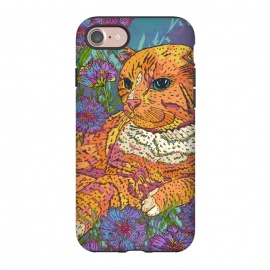 iPhone 8/7  Ginger Cat in Flowers by Lotti Brown