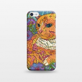iPhone 5C  Ginger Cat in Flowers by Lotti Brown