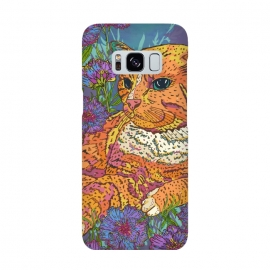 Ginger Cat in Flowers by Lotti Brown