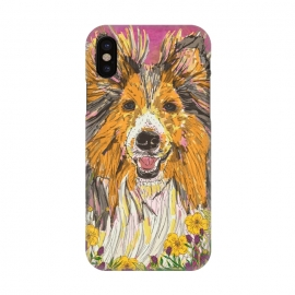 iPhone X  Shetland Sheepdog (Sheltie) by Lotti Brown