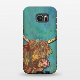 Galaxy S7 EDGE  Highland Cow by Lotti Brown