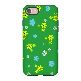 iPhone 8/7  Pretty flowers by allgirls (tiny, small, flower, flowers, garden,fields, nature,bloom, blossom,green,pattern,design,yellow,graphics,minimalist)