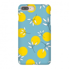 iPhone 8/7 plus  Playful Mood I by  (flowers,flower,floral,pattern,polka dots,yellow,circles,white flowers,seamless,graphic,vectors,blue,elegant,pretty,bright,colorful,cool gifts,gifts for her',garden,geometric,bloom,blossom)