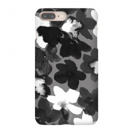 iPhone 8/7 plus  Blackandwhiteflower by Susanna Nousiainen (flower,painted,abstractflower,blackandwhite,graytones)