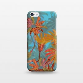iPhone 5C  Fantasy Fall Flowers by Lotti Brown