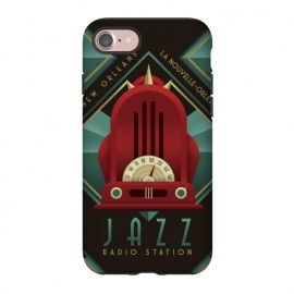 iPhone 8/7  Deco Jazz Radio Station by Dellán (music,jazz,blues,artdeco,radio,radio broadcast,retro,vintage,new orleans,classic,1920,1930)