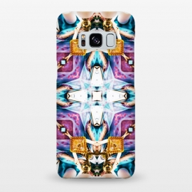 Galaxy S8+  Kaleidoscope Series v1 by Uma Prabhakar Gokhale (graphic, pattern, kaleidoscope, abstract, exotic, glass, gold, metallic, multi color, vibrant, purple, blue, white)