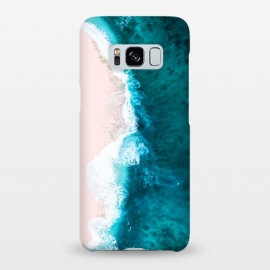 Galaxy S8+  Sagar by Uma Prabhakar Gokhale (ocean, sea, nature, summer, pastel, swim, beach, water, waves, foam, pink, blue, tropical, island)
