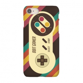 iPhone 8/7  Retro Video Gamer Serie II by Dellán (gamer,video game,retro,vintage,classic, 8 bit,geek,nerd,computer,tech,hipster,brown color,80´s,90´s)