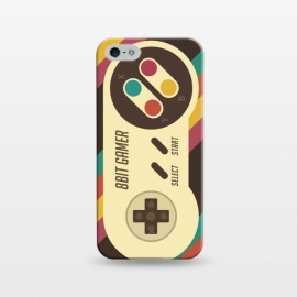 iPhone 5/5E/5s  Retro Video Gamer Serie II by  (gamer,video game,retro,vintage,classic, 8 bit,geek,nerd,computer,tech,hipster,brown color,80´s,90´s)