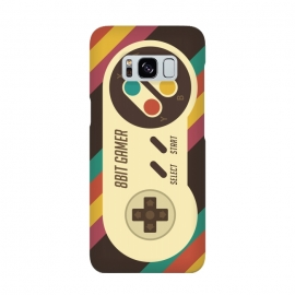 Retro Video Gamer Serie II by Dellán (gamer,video game,retro,vintage,classic, 8 bit,geek,nerd,computer,tech,hipster,brown color,80´s,90´s)