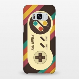 Galaxy S8+  Retro Video Gamer Serie II by Dellán (gamer,video game,retro,vintage,classic, 8 bit,geek,nerd,computer,tech,hipster,brown color,80´s,90´s)