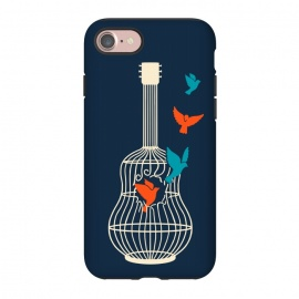 iPhone 8/7  Freedom music by Coffee Man (music,guitar,birds,bird,pet,pets,pet lover,freedom,free,musician)