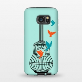 Galaxy S7  freedom music green by Coffee Man