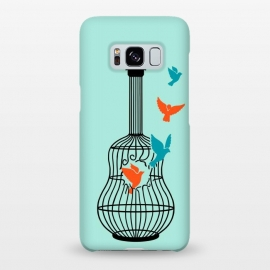 Galaxy S8+  freedom music green by Coffee Man (music, guitar, musician, bird, birds,animals,cute, adorable,freedom,liberty,song,pet lover,animal lover)