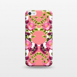 iPhone 5C  Symmetrical Pink Floral Print by Zala Farah