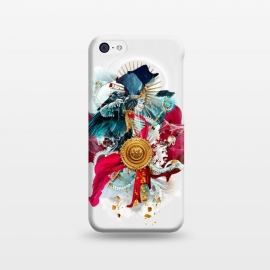 iPhone 5C  Carpe mortem by Riza Peker (skull,skeleton,horror,digitalart,art,design,colors,red,blue,halloween)