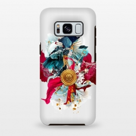 Galaxy S8+  Carpe mortem by Riza Peker (skull,skeleton,horror,digitalart,art,design,colors,red,blue,halloween)