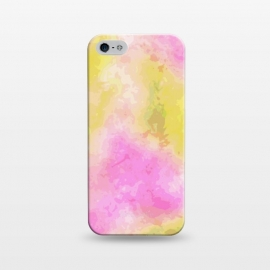 iPhone 5/5E/5s  Pink + Yellow Galaxy by Zala Farah