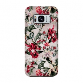 Galaxy S8  Botanical Flowers IV by Riza Peker (FLORAL,PATTERN,FASHION,DESIGN,ART)