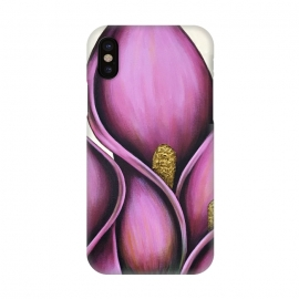 iPhone X  Pink Calla Lilies by Denise Cassidy Wood
