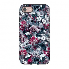 iPhone 8/7  Floral Blue by Riza Peker (botanical,flowers,fashion,design,art,rizapeker)