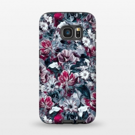 Galaxy S7  Floral Blue by Riza Peker