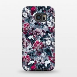 Galaxy S7 EDGE  Floral Blue by Riza Peker
