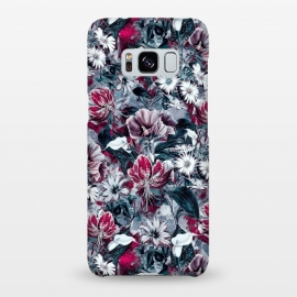 Galaxy S8+  Floral Blue by Riza Peker (botanical,flowers,fashion,design,art,rizapeker)