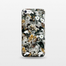 iPhone 5C  Floral Gold by Riza Peker (floral,pattern,fashion,design,art,moda,rizapeker)
