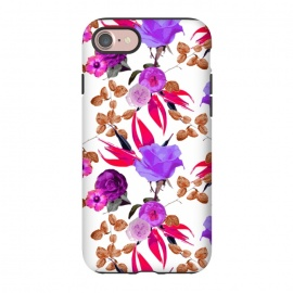 iPhone 8/7  Flaming Chaman Garden by Zala Farah (red,purple,red floral print,red flowers,purple flowers,flower print,flower art,flowers,floral,flora,floral print,floral collage,flower pattern,art,print,pretty,cute,bright,colorful,nature,botanic,botanical,nature art,collage,modern,lush,zala02creations)