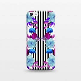iPhone 5C  Spring Garden (Blue-Purple) by Zala Farah