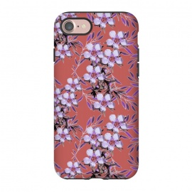 iPhone 8/7  Inaya by Zala Farah (abstract flowers,floral,purple flowers,floral collage,floral print,nature,botanic,purple,chic,style,lush,pretty,botanical,botanic nature print,art,artistic nature,exotic,jewels,floral jewels,zala02creations)