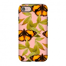 iPhone 8/7  ButterFly by Zala Farah (insect,nature,art,bug,butterflies,butterfly,yellow butterfly,lush,botanic,botanical,pretty,cute,chic,style,nature art,nature print,print,pattern,kids,for kids,orange butterfly,bugs,leaf,leafy,leaf print,leaves,zala02creations,zala farah)