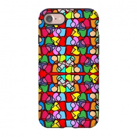 iPhone 8/7  Love is All Around Us by Bettie * Blue (hearts,love,colorful,bright colors,valentine,happy,fun,whimsical)