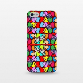 iPhone 5/5E/5s  Love is All Around Us by Bettie * Blue (hearts,love,colorful,bright colors,valentine,happy,fun,whimsical)