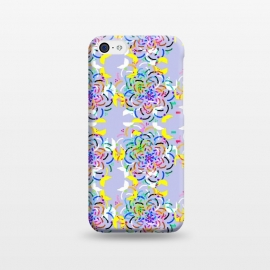 iPhone 5C  Happy Day! by Bettie * Blue (flowers, kaleidoscope,geometric,pattern,purple,fun,whimsical,colorful,rainbow,happy)