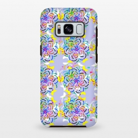 Galaxy S8+  Happy Day! by Bettie * Blue (flowers, kaleidoscope,geometric,pattern,purple,fun,whimsical,colorful,rainbow,happy)
