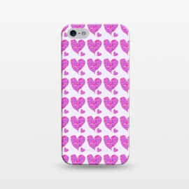 iPhone 5/5E/5s  Happy Heart by Bettie * Blue (hearts,love,valentine,pink,purple,floral,flowers,whimsical,happy,romantic,girl,feminine)