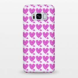 Galaxy S8+  Happy Heart by Bettie * Blue (hearts,love,valentine,pink,purple,floral,flowers,whimsical,happy,romantic,girl,feminine)