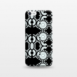 iPhone 5C  Inner Workings by Bettie * Blue (black and white,black & white,geometric,geo,pattern)