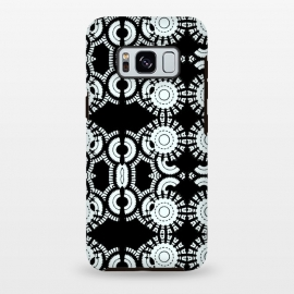 Galaxy S8+  Inner Workings by Bettie * Blue (black and white,black & white,geometric,geo,pattern)