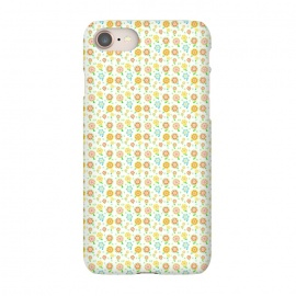 iPhone 8/7 SlimFit Tiny Sweeties by Bettie * Blue (flowers, floral, tiny flowers,cute,sweet,happy,colorful,pattern,geometric)