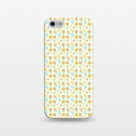 iPhone 5/5E/5s  Tiny Sweeties by Bettie * Blue (flowers, floral, tiny flowers,cute,sweet,happy,colorful,pattern,geometric)