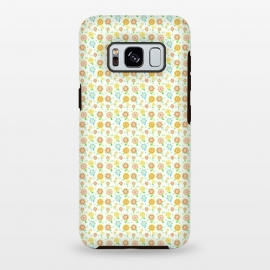 Galaxy S8+  Tiny Sweeties by Bettie * Blue (flowers, floral, tiny flowers,cute,sweet,happy,colorful,pattern,geometric)