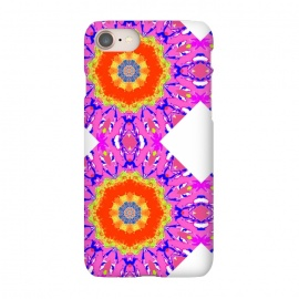 iPhone 8/7 SlimFit Groovy Vibe by Bettie * Blue (hot pink,vibes,mandala,spirit,groovy,fun,bright colors,colorful)