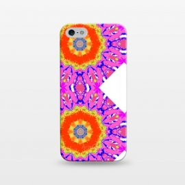 iPhone 5/5E/5s  Groovy Vibe by Bettie * Blue (hot pink,vibes,mandala,spirit,groovy,fun,bright colors,colorful)