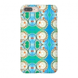 Electric Boogaloo by Bettie * Blue (geo,geometric,mandala,blue and green,bright colors,fun,whimsical)