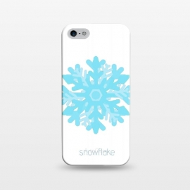 iPhone 5/5E/5s  Snowflake -light blue by Bettie * Blue (snowflake,snow, geo,geometric,blue,winter,holidays,light blue,happy)