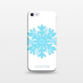 iPhone 5C  Snowflake -light blue by Bettie * Blue (snowflake,snow, geo,geometric,blue,winter,holidays,light blue,happy)